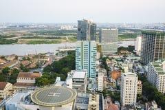 Antenna di Ho Chi Minh City, Vietnam Fotografie Stock Libere da Diritti