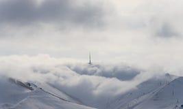 Antenna di inverno della nebbia della nuvola fotografie stock libere da diritti