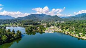 Antenna di Junaluska del lago fotografia stock libera da diritti