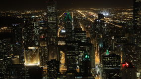 antenna di 4K UltraHD Timelapse centro urbano del Chicago, Illinois stock footage