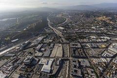 Antenna di Los Angeles dell'autostrada senza pedaggio del Golden State 5 Immagine Stock