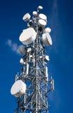 Antenna di a microonde Fotografia Stock Libera da Diritti