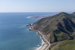 Antenna di Mugu California del punto della strada principale della costa del Pacifico Fotografie Stock