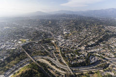 Antenna di nordest di Highland Park Los Angeles Fotografia Stock Libera da Diritti