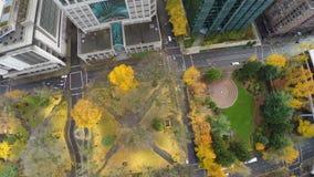 Antenna di Portland del centro stock footage
