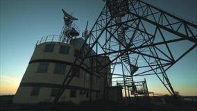 Antenna di radar completa video d archivio