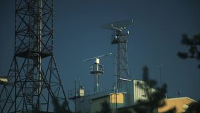 Antenna di radar completa archivi video