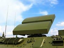 Antenna di radar del sistema di difesa aerea Immagini Stock