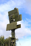 Antenna di radar del sistema di difesa aerea Fotografia Stock