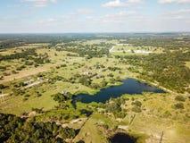 Antenna di Sommervile rurale, il Texas Austin medio e Houston fotografia stock