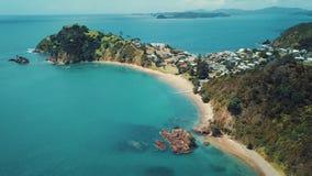 Antenna di stupore della Nuova Zelanda, metraggio del punto 4k di Tapeka stock footage
