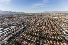 Antenna di sviluppo incontrollato suburbano di Las Vegas Fotografie Stock Libere da Diritti