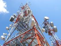 Antenna di telecomunicazione Fotografia Stock Libera da Diritti