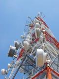 Antenna di telecomunicazione Fotografia Stock