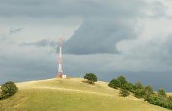 Antenna di telecomunicazioni Fotografie Stock Libere da Diritti