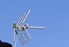Antenna di televisione Immagine Stock