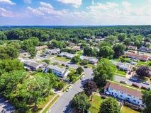 Antenna di una vicinanza in Parkville nella contea di Baltimore, Maryl fotografie stock libere da diritti