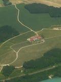Antenna di una zona agricola della Svizzera Immagine Stock Libera da Diritti