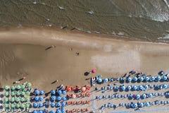 Antenna di vita della spiaggia Fotografia Stock Libera da Diritti