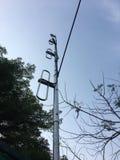 Antenna a dipolo piegata Immagini Stock Libere da Diritti