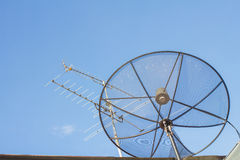 Antenna and dish aerial Royalty Free Stock Photos