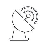 Antenna dish transmission  thin line Royalty Free Stock Photo