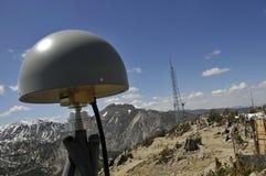Antenna a distanza di GPS su Mtn.Peak Fotografia Stock Libera da Diritti