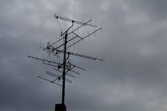 Antenna e cielo nuvoloso Fotografie Stock
