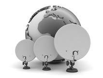 Antenna and earth globe Royalty Free Stock Photos