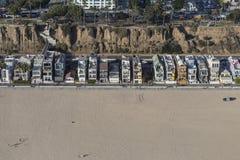 Antenna eclettica dell'alloggio su Santa Monica Beach Immagine Stock Libera da Diritti