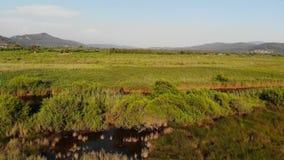 Antenna egea fertile di Marslands stock footage