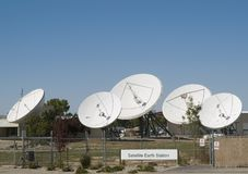 Antenna Farm. At satellite receivng station Stock Images