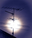Antenna on fool moon Stock Image