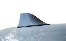 Antenna gray on the roof shape Royalty Free Stock Images