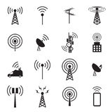 Antenna icon set Stock Images