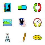 Antenna icons set, cartoon style Stock Photography