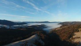 Antenna: la valle della montagna della nuvola e della nebbia abbellisce, l'Ucraina archivi video