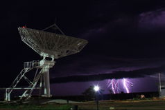 Antenna and lightning Royalty Free Stock Photography