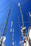 Multiple types of antennas Royalty Free Stock Photos
