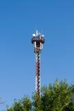 Antenna mast for transmitting mobile Royalty Free Stock Image