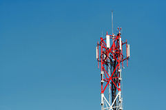 Antenna for mobile network Stock Photos
