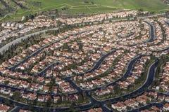 Antenna moderna di periferia di Los Angeles Fotografia Stock