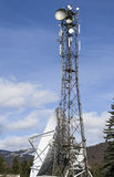 Antenna in the mountains Stock Images