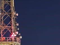 Antenna at Night Royalty Free Stock Photos