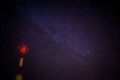 Antenna on nigth Royalty Free Stock Photo