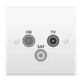 Antenna outlet. For TV and Radio Royalty Free Stock Photos