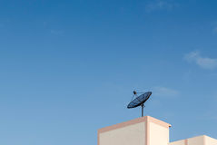 Antenna parabolica satellite Fotografia Stock