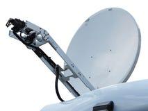 Antenna parabolica satellite professionale isolata su bianco Immagine Stock
