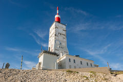 Antenna radio and weather station of Mount Ventoux, France Royalty Free Stock Photography