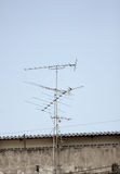 Antenna in receive TV signals. Royalty Free Stock Photos